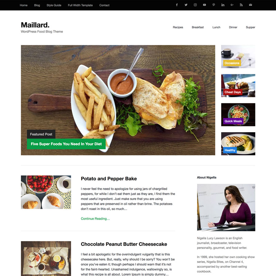 Maillard free food blog theme for wordpress view demo download maillard forumfinder Image collections